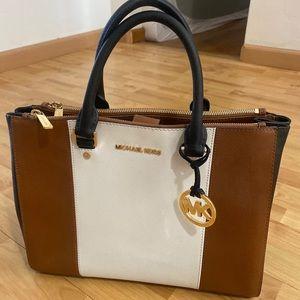 Sutton Center Stripe Handbag